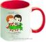 Чашка с Вашим дизайном MUG2T-I, цветная внутри и ручка  7