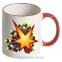 Чашка с Вашим дизайном Two Tone Mug, с цветной ручкой и каймой 10