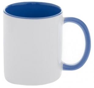 Кружка двоколірна з кольоровою ручкою, блакитна, MUG2T-I