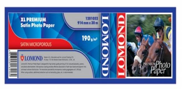 Бумага Lomond для струйных принтеров, Premium Satin, 190 г/м2, 914 мм х 30метров