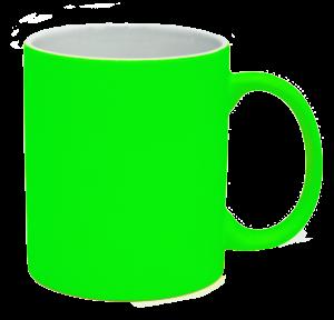 Кружка під лазерний трансфер, яскраво-зелена
