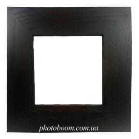 Плитка  белая керамическая в рамке из натурального дерева (10х10 см)