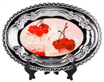 Металлическая тарелка с Вашим дизайном