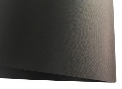 Арт.195287 Дизайнерский картон Vivaldi Black Re с тиснением лен, черный, 270 гр/м2