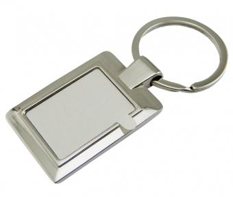 Брелок прямоугольный металлический для сублимации