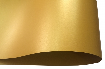 Арт.41172 Дизайнерский картон Perl Dream Tafta, золотой перламутровый, 250 гр/м2
