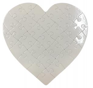 Заготовка пазла в форме Сердце 195х205 мм ( 32 эл.)