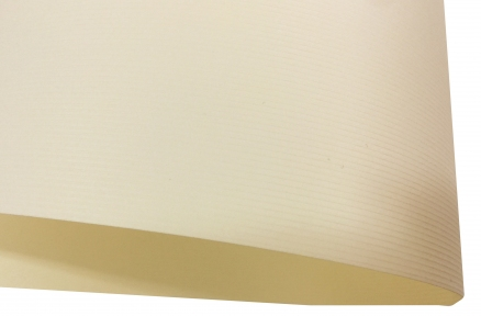 Арт.175315 Дизайнерский картон Vivaldi Krem Furrow с тиснением вельвет, кремовый, 300 гр/м2