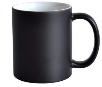 Кружка со сменой цвета черная матовая