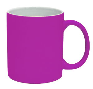 Кружка під лазерний трансфер, яскраво-рожева