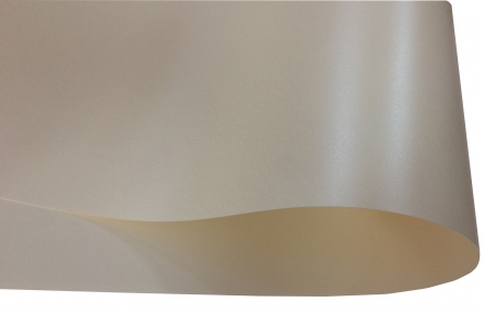 Арт.13172 Дизайнерский картон Perl Dream Tafta, кремовый перламутровый, 250 гр/м2