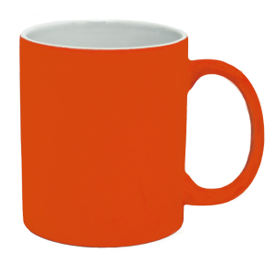 Кружка под лазерный трансфер, ярко-оранжевая