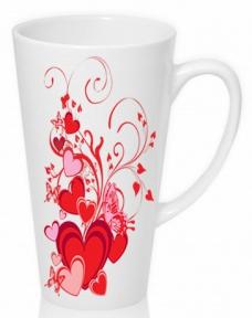 Чашка с Вашим дизайном LATTE высокая (конус)
