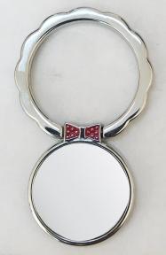 Кольцо держатель самоклеющееся для телефона в форме волнистого круга с бабочкой, серебро
