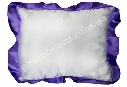 Наволочка для сублимации, прямоугольная с фиолетовой каймой