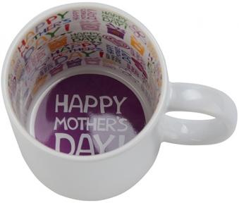 Кружка белая с рисунком внутри с Днем Матери