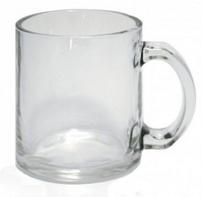 Скляна прозора кружка для сублімації, G-Mug11