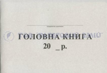 Главная книга, А4, 48/100 листов