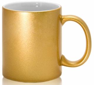Кружка керамічна для сублімації, колір - золота