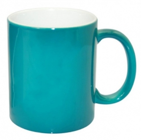 Кольорова кружка хамелеон для сублімації Colour Changing Mug, бірюзова