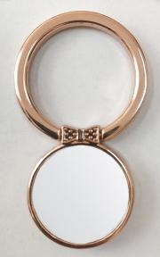 Кольцо держатель самоклеющееся для телефона в форме круга с бабочкой, красное золото