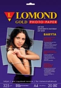 Атласний баритовий фотопапір для струменевого друку, художній шовк, A4, 325 г/м2, 20 аркушів