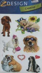 Наклейка с изображениями собачек