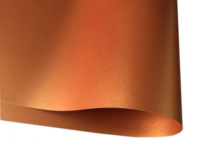 Арт.D1223 Дизайнерский картон Copper, медь перламутровый, 285 гр/м2