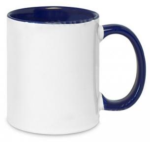 Кружка двухцветная с цветной ручкой, синяя, MUG2T-I