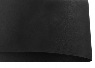 Арт.195273 Дизайнерский картон Vivaldi Black Re.Deri с тиснением кожа, черный, 270 гр/м2