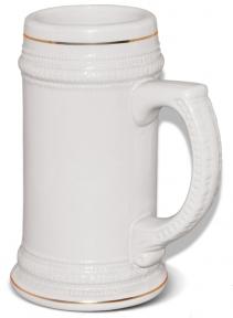 Пивной бокал с золотой полосой для сублимации, MUG22