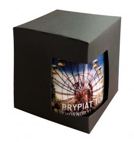 Картонная упаковка для кружек с дизайнерского картона, черная