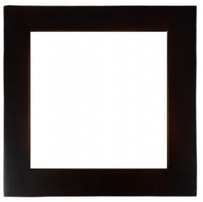 Біла керамічна плитка в рамці з натурального дерева (20х20 см)