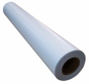 Широкоформатна глянцева плівка для холодної ламінації, 140 г/м2, 1070 мм х 50 метрів