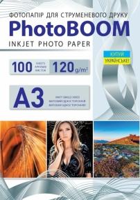 Односторонняя матовая фотобумага PhotoBOOM для струйной печати, А3, 120 г/м2, 100 листов
