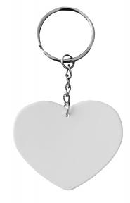 Брелок пластиковый для сублимации Сердце
