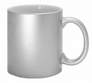 Кружка керамічна для сублімації, колір - срібло