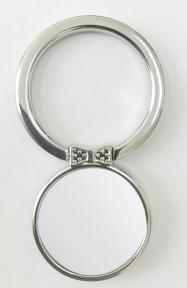Кольцо держатель самоклеющееся для телефона в форме круга с бабочкой, серебро