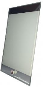 Стеклянная фоторамка 15х23 см зеркальные края, gl-03
