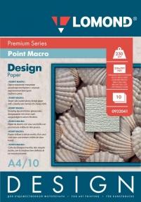 Односторонняя глянцевая дизайнерская бумага Пойнт Макро, A4, 230 г/м2, 10 листов