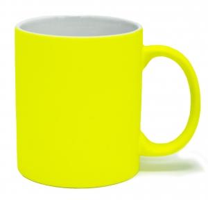 Кружка під лазерний трансфер, яскраво-жовта