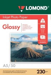 Односторонній глянцевий фотопапір для струменевого друку, A5, 230 г/м2, 50 аркушів